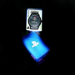 Play station themed Watch with blue box casing